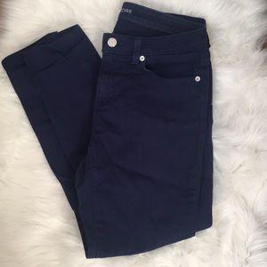 Michael Kors dark blue skinny jeans